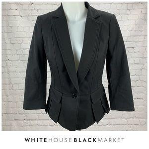 WHBM Black One Button Blazer Size 4